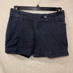 The limited dark wash 917 jean shorts